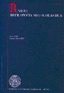 RIVISTA DI FILOSOFIA NEO-SCOLASTICA - 2007 - 2