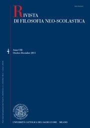 RIVISTA DI FILOSOFIA NEO-SCOLASTICA - 2012 - 1