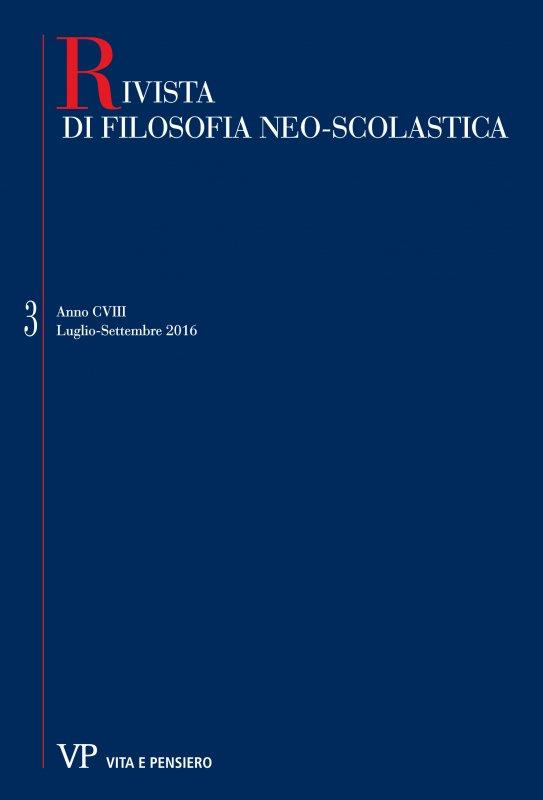 RIVISTA DI FILOSOFIA NEO-SCOLASTICA - 2016 - 3
